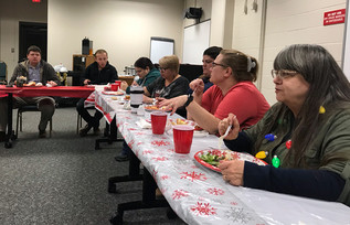 HOLIDAY LUNCH HELD FOR MAINTENANCE SUPPORT SERVICES