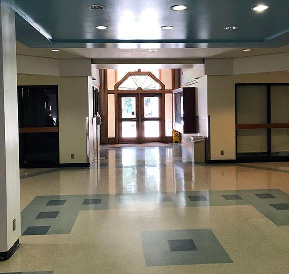 Haynes Engineering Building entrance