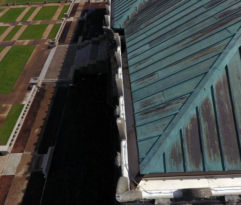 JK Williams gutters-drone view