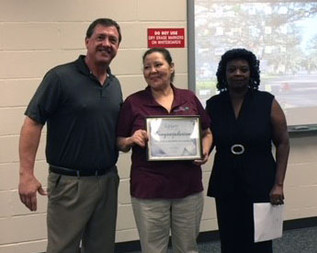 CUSTODIAL HONORS FRANCISCA De CASTILLO AGUIRRE, GEM OF THE YEAR