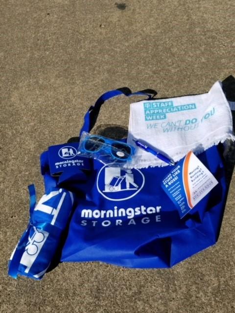 Morningstar Storage goody bag contents