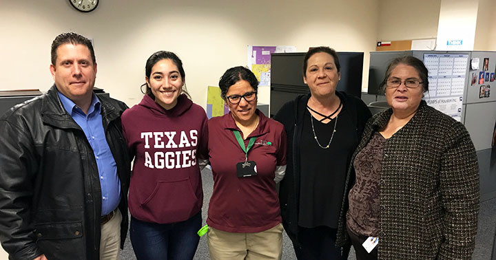 Custodial honors Maria Lopez for becoming a citizen