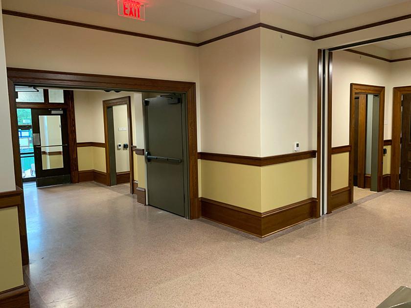Nagle Hall Renovation Lobby