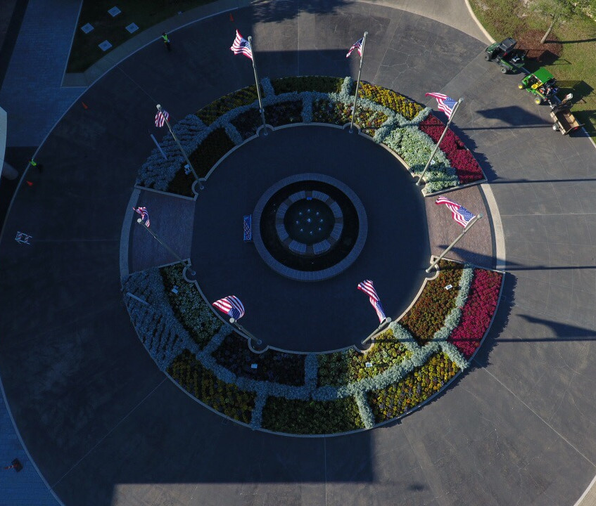 GBL Fountain - drone view (2)