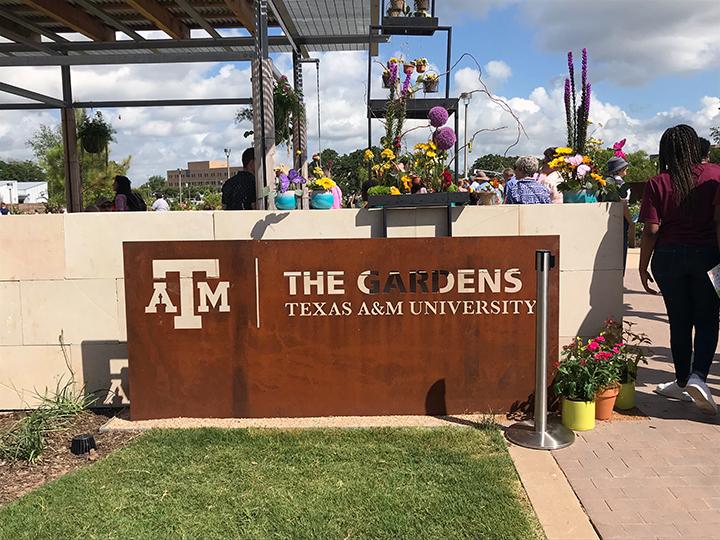 The Gardens entrance sign
