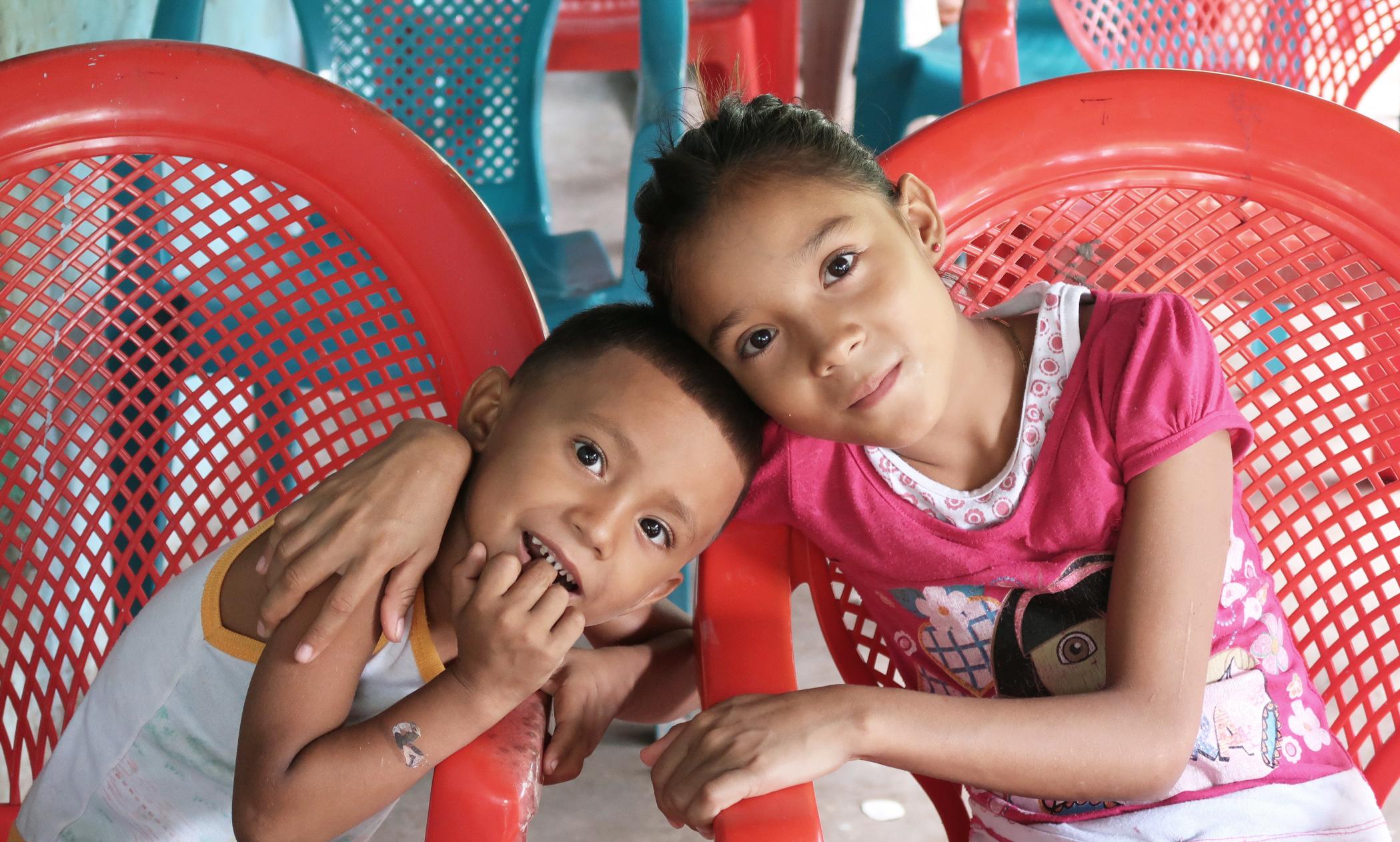 Children waiting for hygiene class