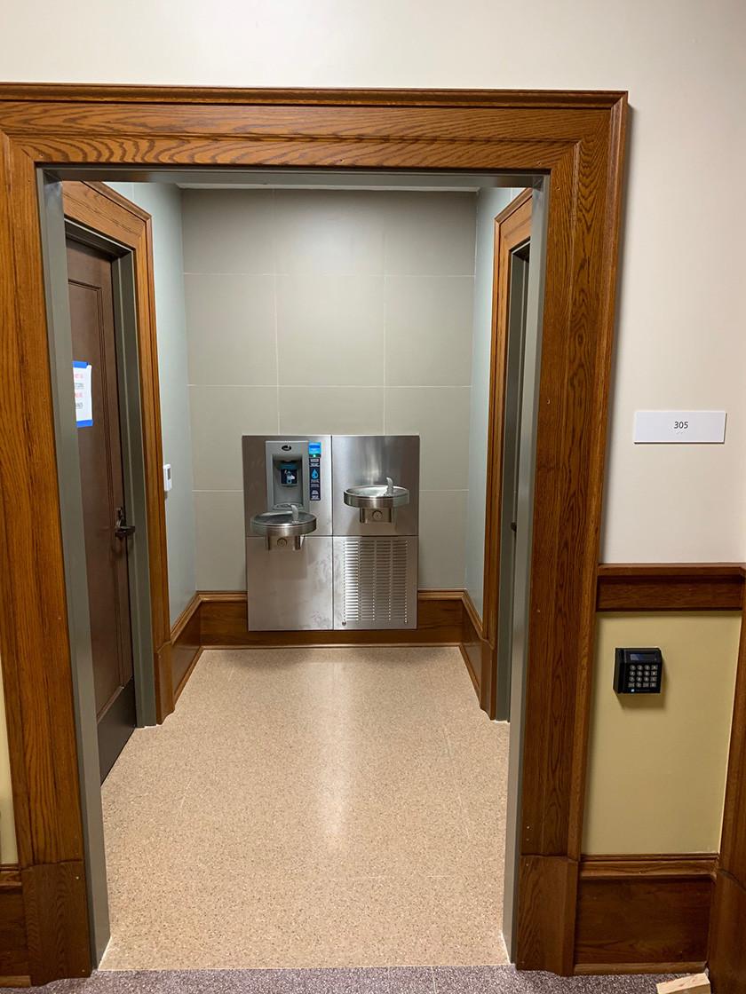 Nagle Hall Renovation Bathroom