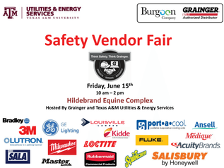 SAFETY VENDOR FAIR TO BE HELD JUNE 15