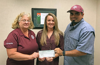 GROUNDS STUDENT WORKER PRESENTED WITH PGMS SCHOLARSHIP
