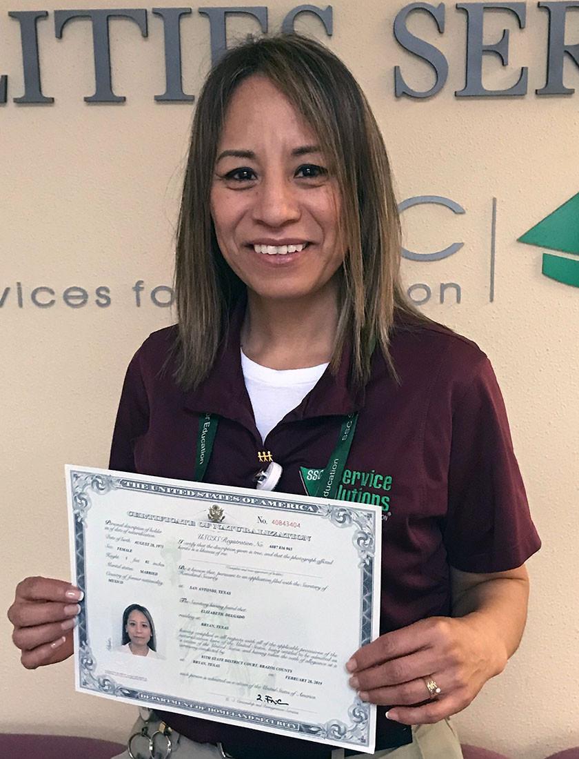 Elizabeth Delgado becomes a U.S. Citizen