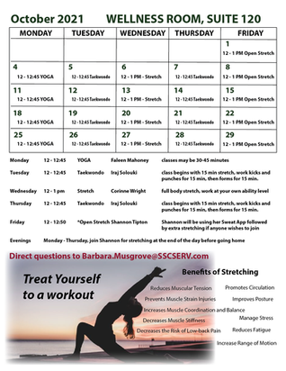 WELLNESS OPPORTUNITIES OFFERED IN SUITE 120
