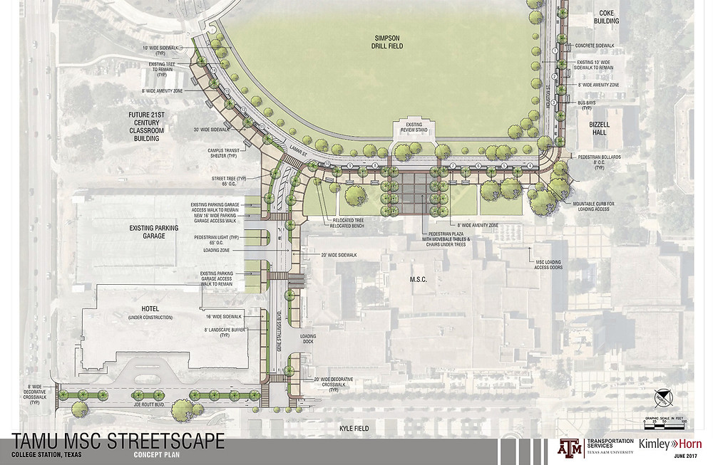 MSC Street Replacement Project Map 2019