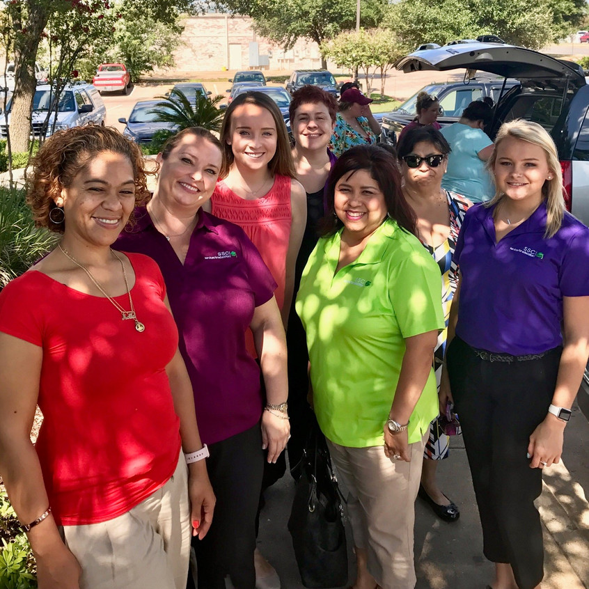 SSC staff who worked job fair