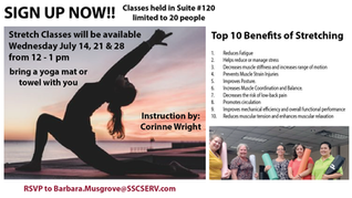 SIGN UP NOW FOR STRETCH CLASSES!