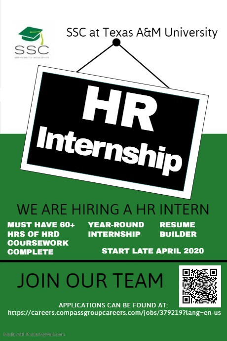 HR Internship now available