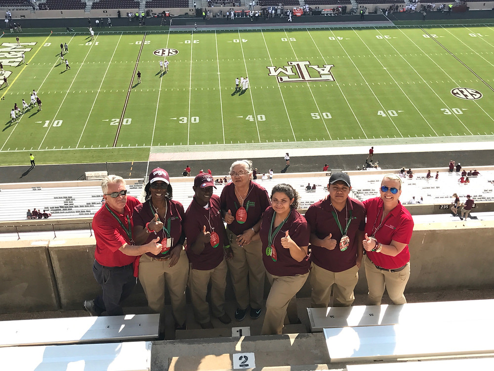 Custodial Crew at Kyle Field
