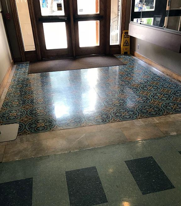 Haynes Engineering Building clean floors