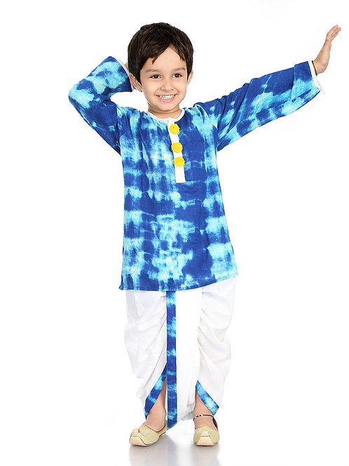 Dhoti kurta for Boys - Blue