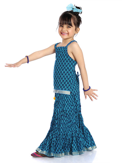 Baby girl lehenga set - Blue