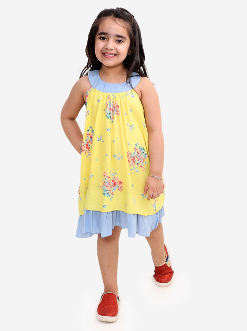Floral print frock - yellow