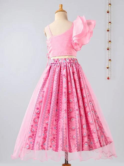 Cropped top set -pink