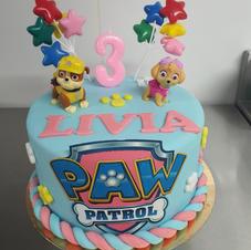 Cake design paw patrol fille