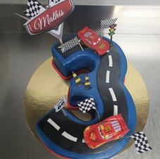 cake design en forme de chiffre