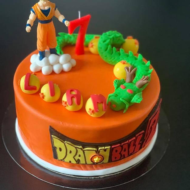 cake design dragon ball z