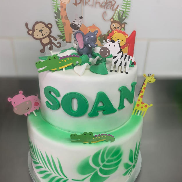 cake design thème jungle