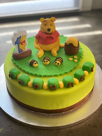 weeding cake winnie l'ourson