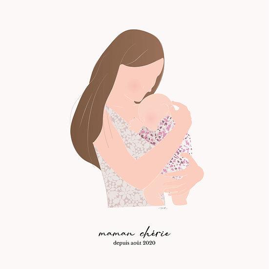 Affiche personnalisable Maman