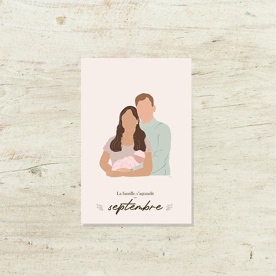 Carte - Couple et bébé
