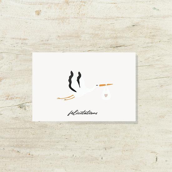 Carte - Cigogne