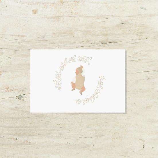Carte - Bébé automne