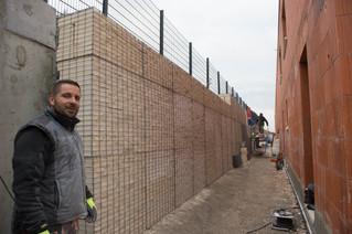 Mur anti-chutes de pierres en Gabions