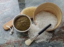 Photo - Wood bowls w product & brush 3.j