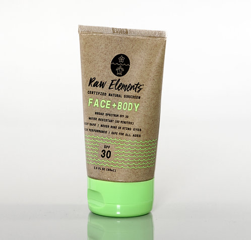 Raw Elements All Natural Face & Body SPF 30
