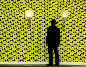 Wall with Man Lamps ...Fiac   Low Res 11