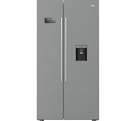 BEKO Pro ASDM241PX American-Style Fridge Freezer - Brushed Steel