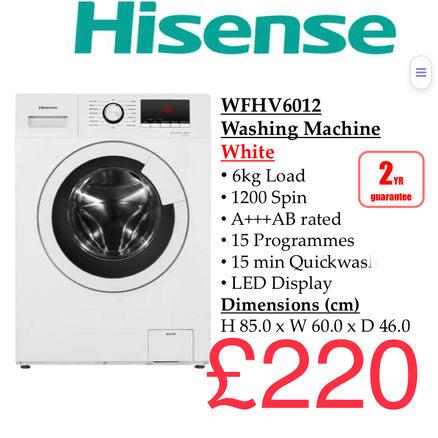 Hisense WFHV6012