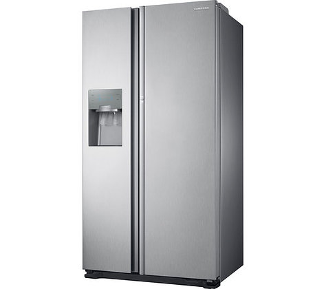SAMSUNG Food ShowCase RH56J6917SL American-Style Fridge Freezer - Steel
