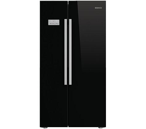 BEKO ASL141B American-Style Fridge Freezer - Black
