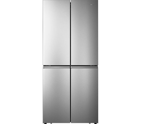 HISENSE PureFlat RQ563N4AI1 Fridge Freezer - Stainless Steel
