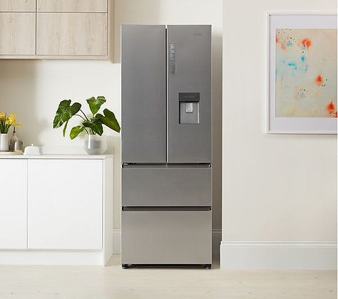 HAIER HB16WMAA 60/40 Fridge Freezer - Stainless Steel