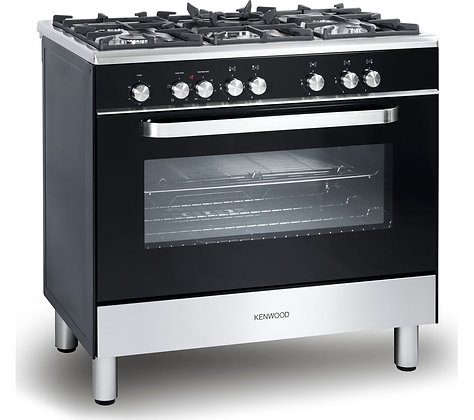 KENWOOD CK305-1 Dual Fuel Range Cooker - Black