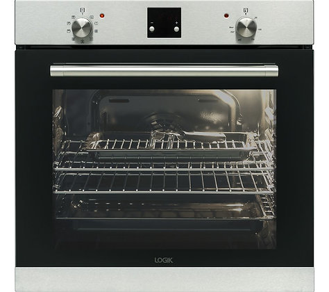 LOGIK LBLFANX17 Electric Oven - Inox & Black
