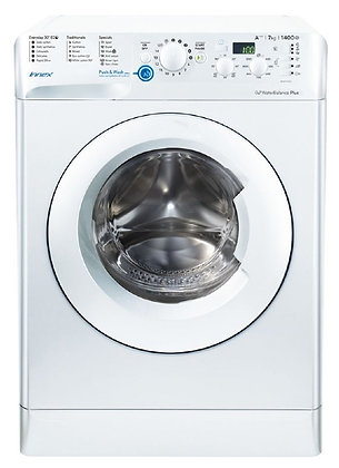 INDESIT 1400 SPIN 7KG WHITE WASHING MACHINE Product Code BWD71453W Manufacturer