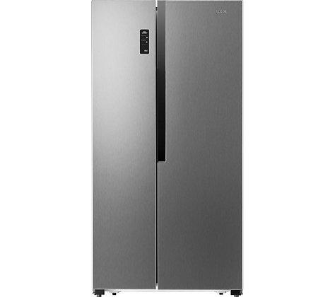 LOGIK LSBSX18 American-Style Fridge Freezer - Silver