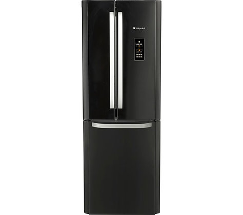 HOTPOINT FFU3DG.1K Fridge Freezer - Black