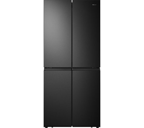 HISENSE PureFlat RQ563N4AF1 Fridge Freezer - Black Steel